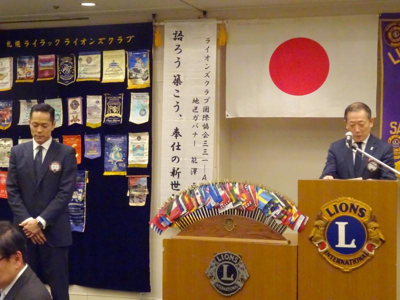 前会長L蛭田と真剣な様子のL佐藤